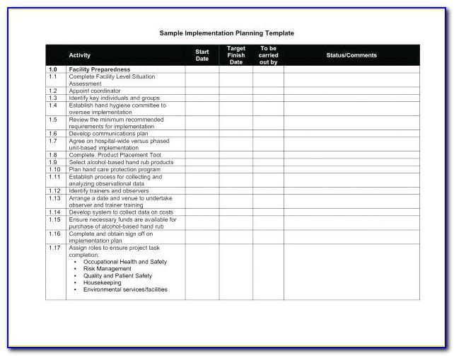 Sap Implementation Plan Template Excel