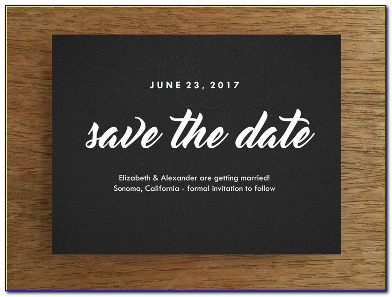 Save The Date Email Sample