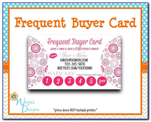 Scentsy Frequent Buyer Card Template