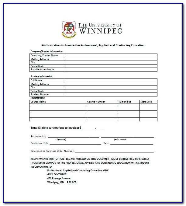 School Invoice Example