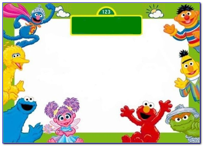 Sesame Street Invitation Template Free