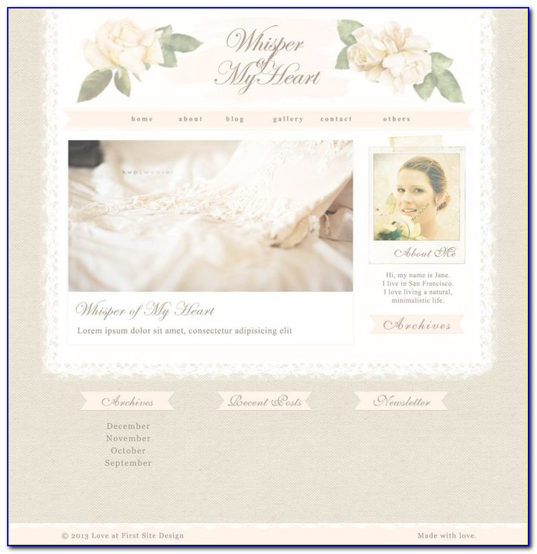 Shabby Chic Website Templates