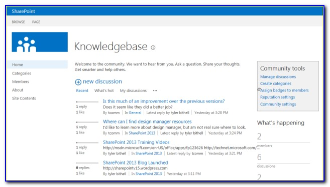 Sharepoint 2013 Knowledge Base Template
