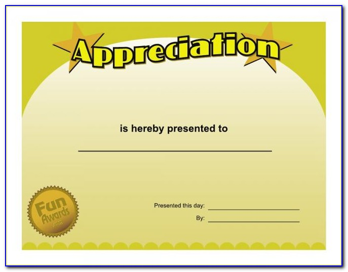 Silly Certificates Awards Templates