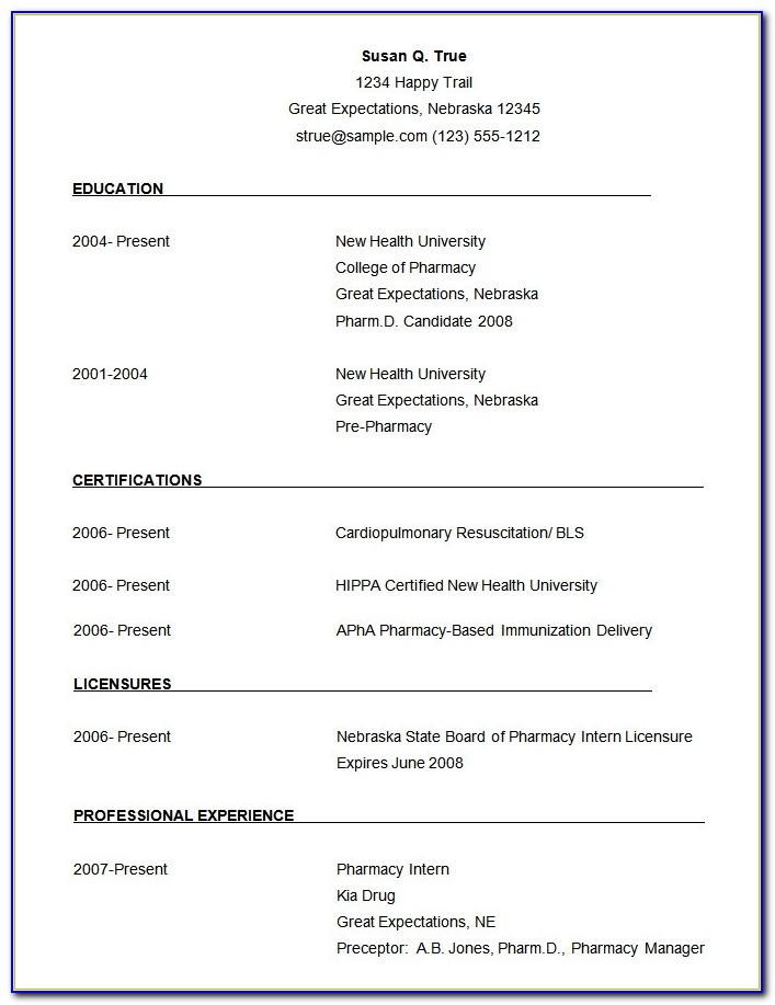 Microsoft Word Resume Template 49+ Free Samples, Examples, Format In Simple Resume Format Download In Ms Word