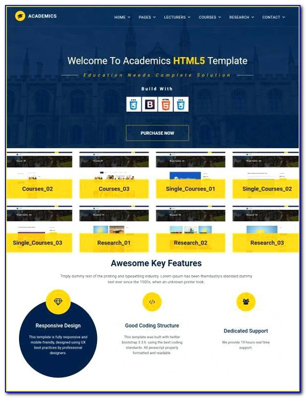 Simple Html And Css Web Template