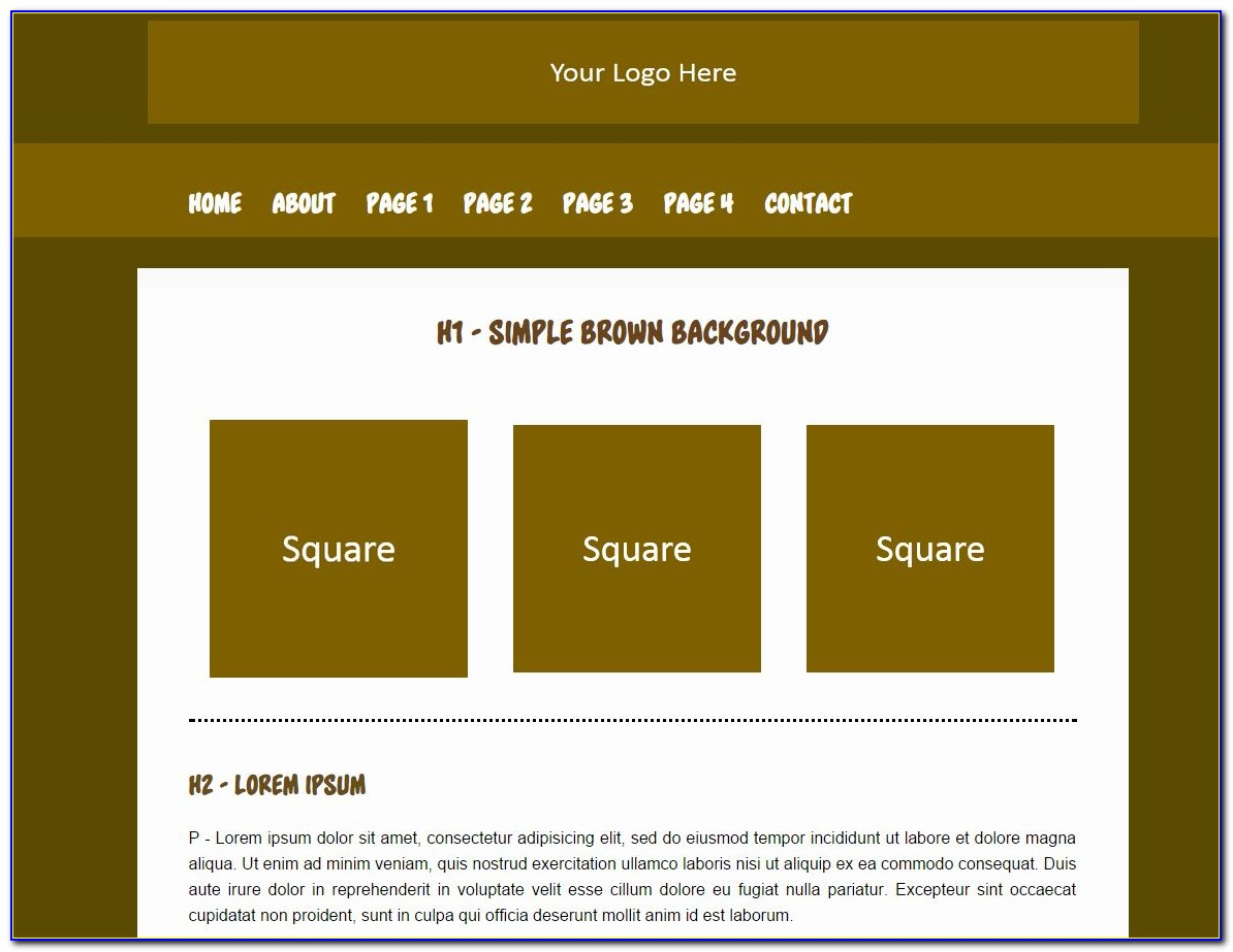 Simple Html And Css Website Templates Free Download