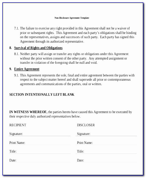 Standard Non Disclosure Agreement Form 19 Examples In Pdf Word Design Non Disclosure Agreement Template Canada Fresh Pdf Word Excel Download Templates Iwtay