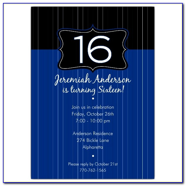 Sixteenth Birthday Invitations Templates