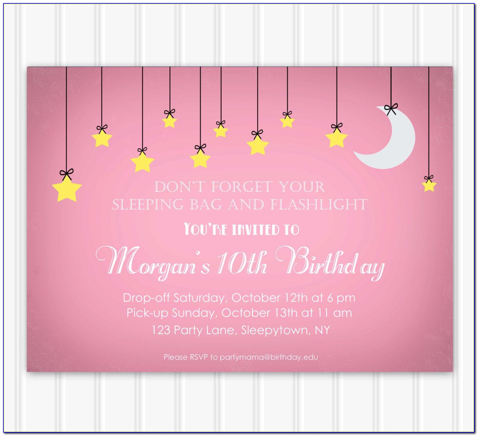 Slumber Party Invitations Ideas