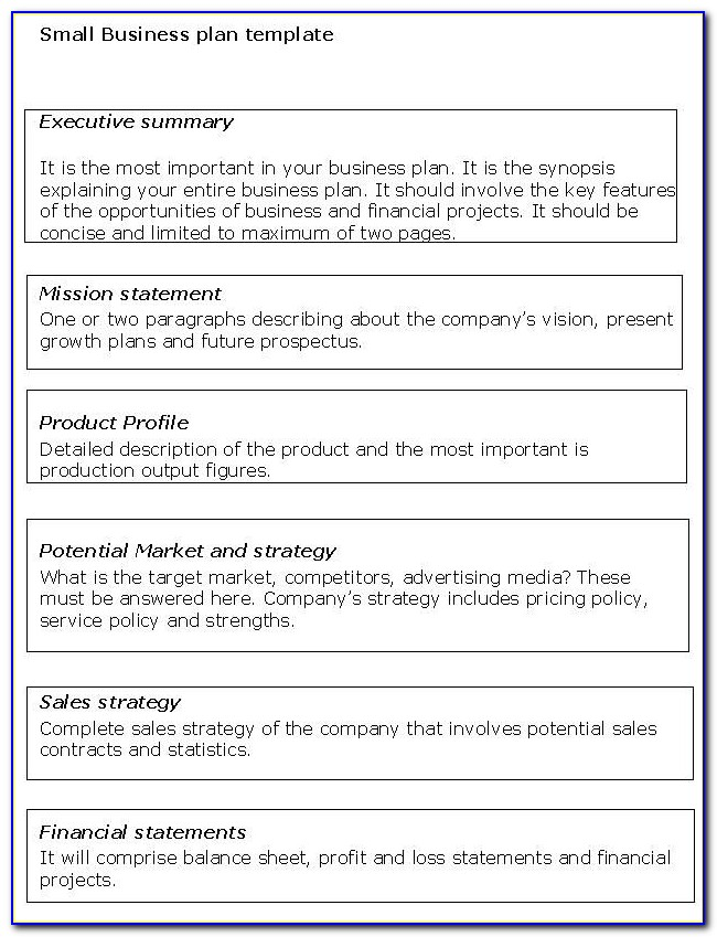 Small Business Administration Business Plans