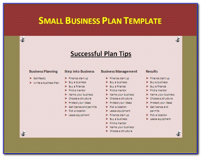 Small Business Administration Marketing Plan Template