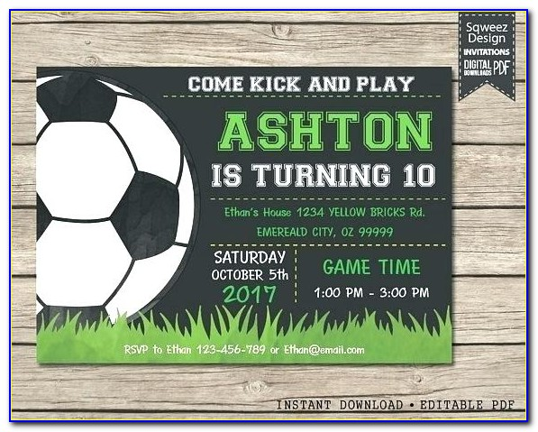 Soccer Banquet Invitation Template