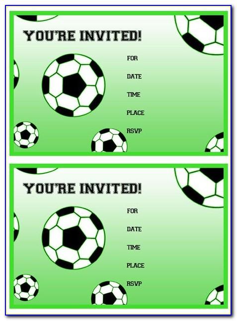 Soccer Invitation Designs