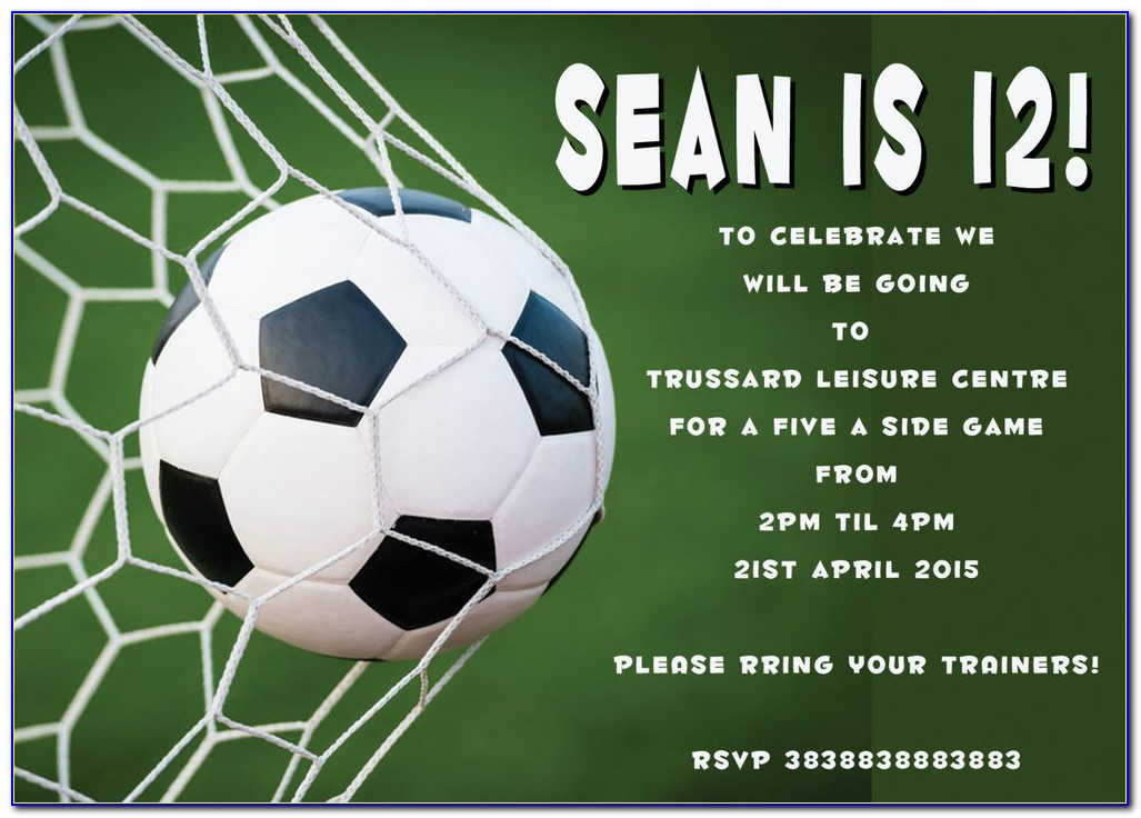 Soccer Invitation Template Free