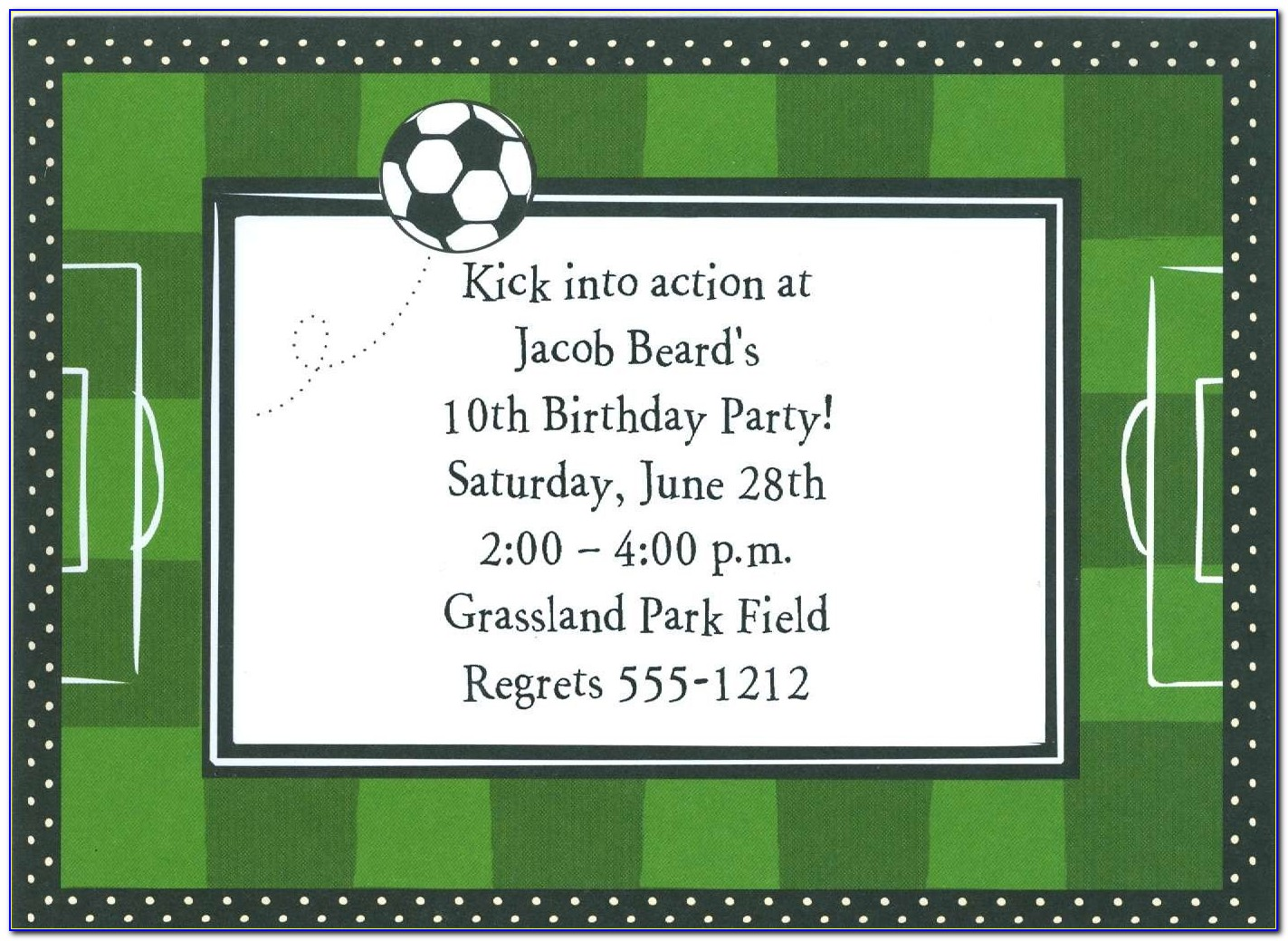 Soccer Ticket Invitation Template Free