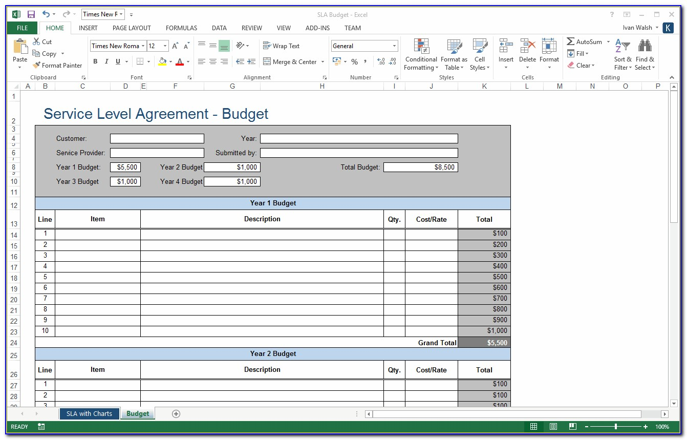 Software Support Sla Template