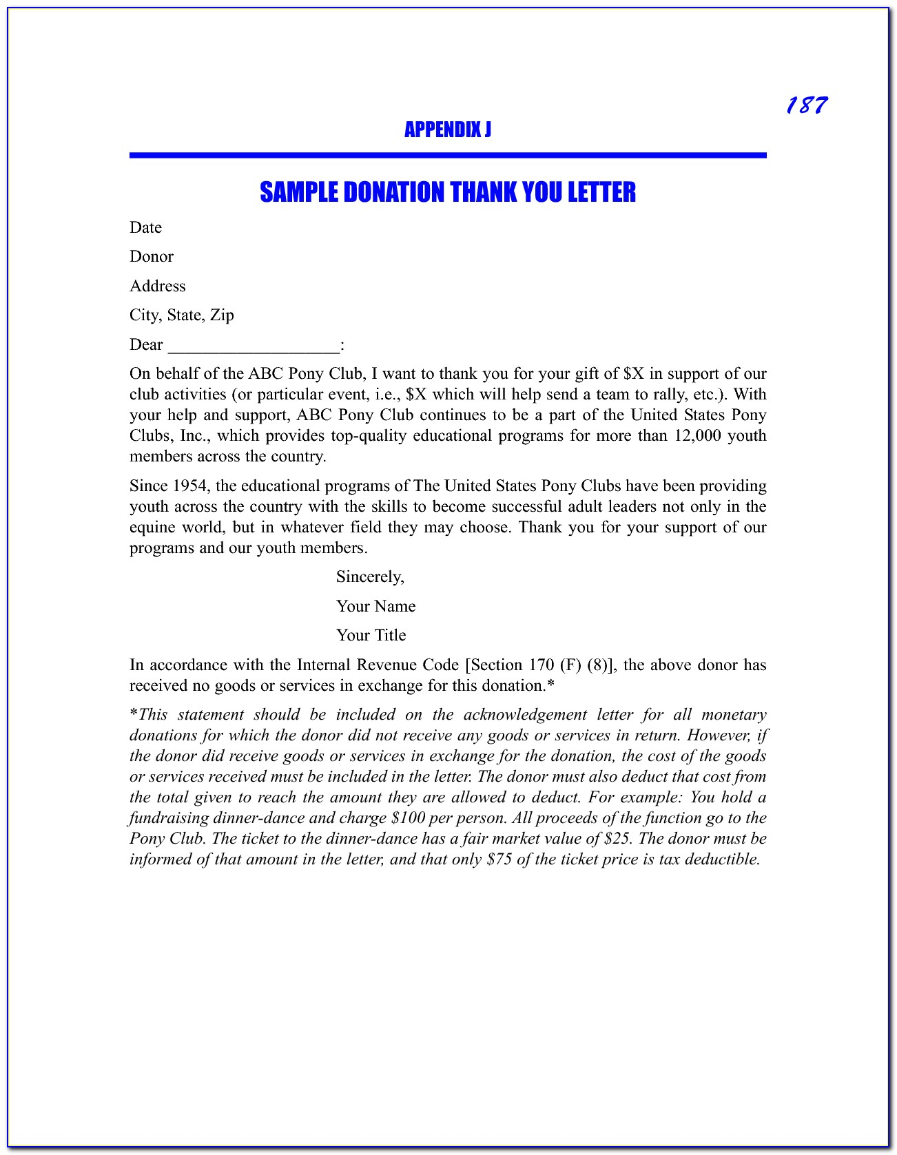 Sponsorship Letter Template For Donations