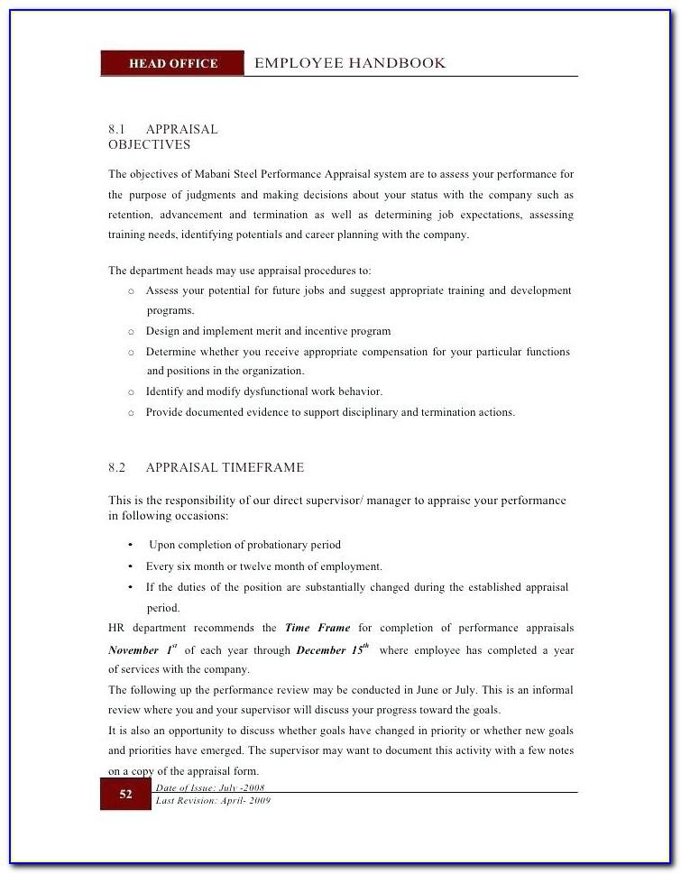 Staff Handbook Template Nz