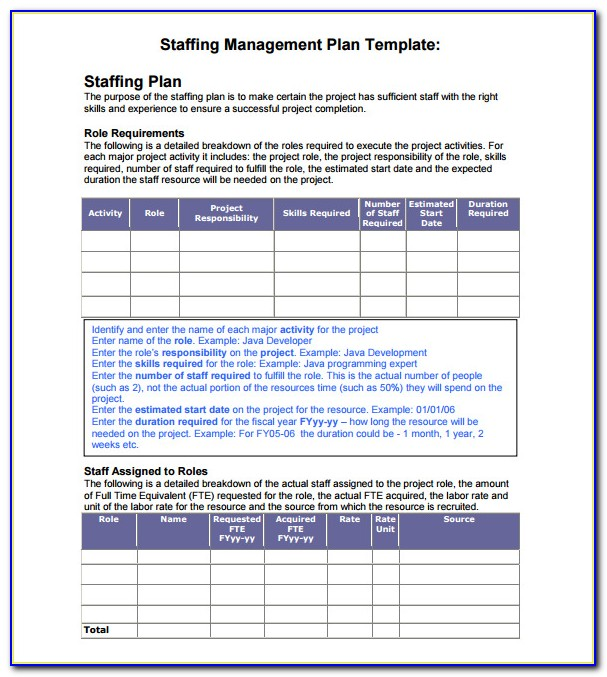 Staffing Proposal Template Word