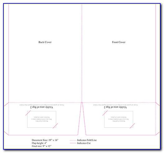 Standard 9x12 Pocket Folder Template