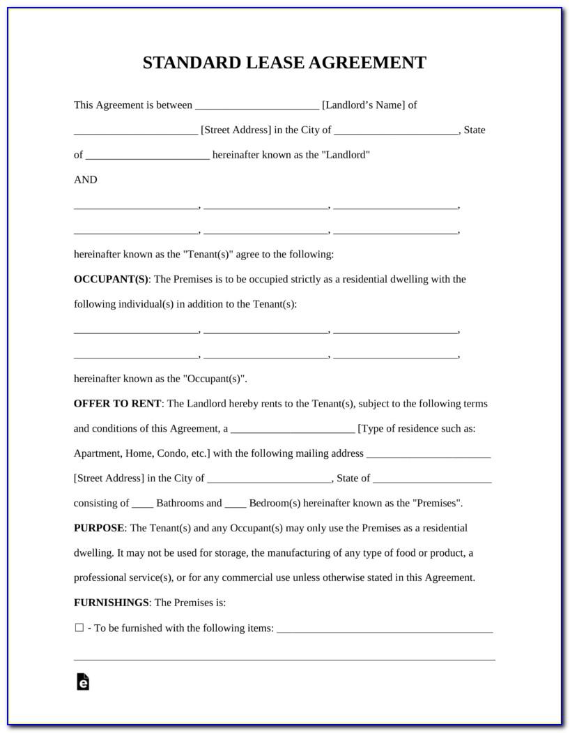 Standard Tenancy Agreement Template