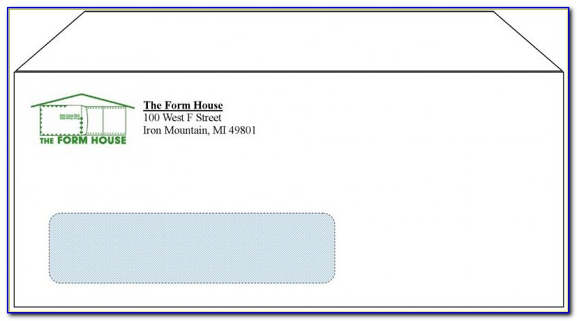 Standard Window Envelope Template