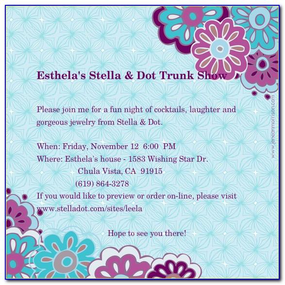 Stella And Dot Invitation Templates