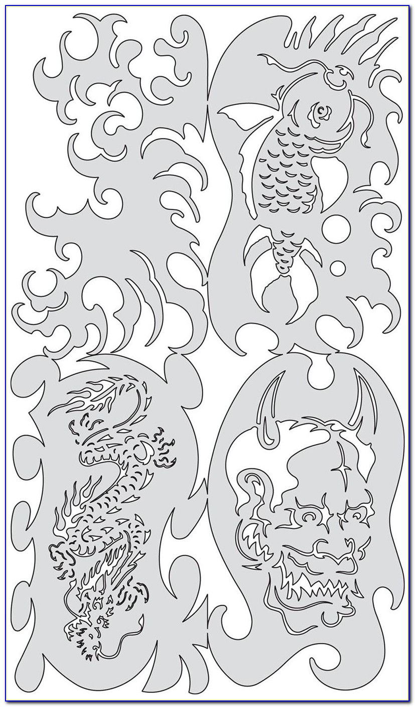 Step By Step Airbrush Stencil Template