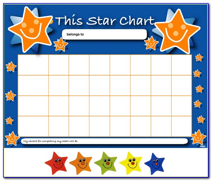Sticker Reward Chart Template