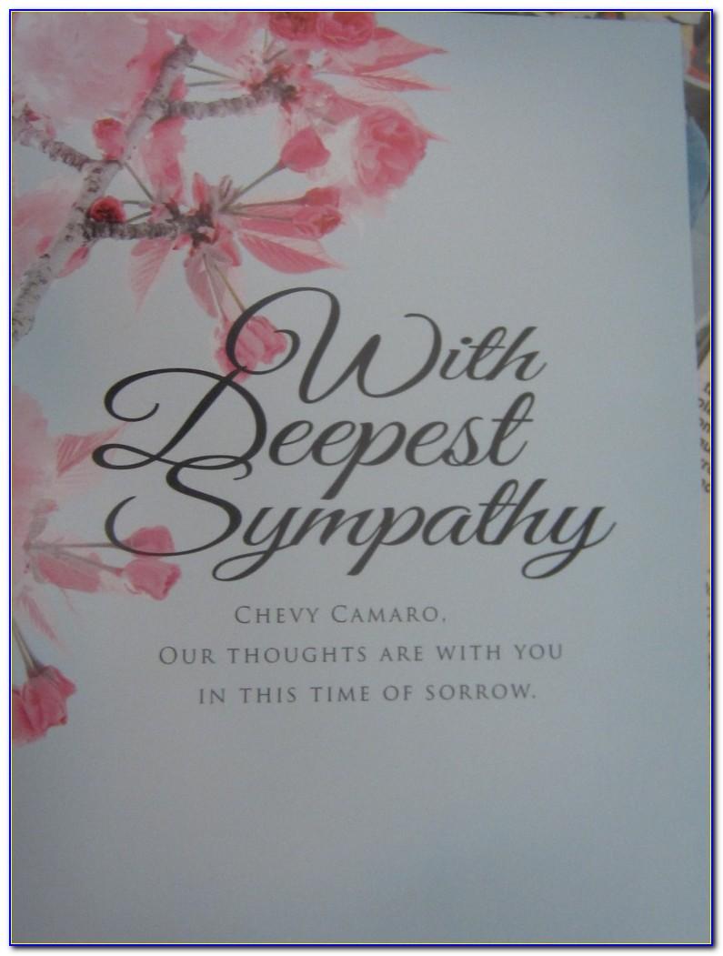 Sympathy Card Templates Free Download