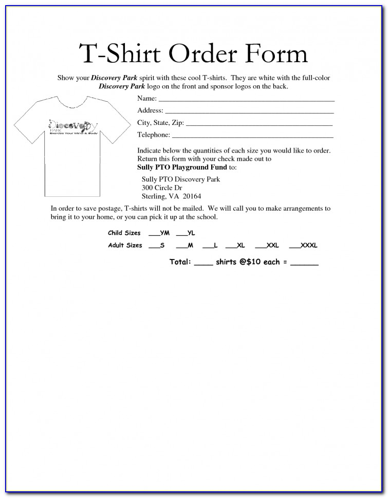 T Shirt Business Plan Template