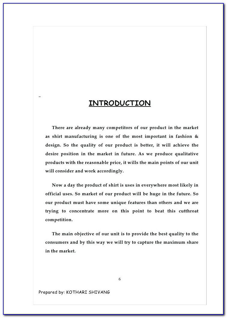 T Shirt Printing Business Plan Example