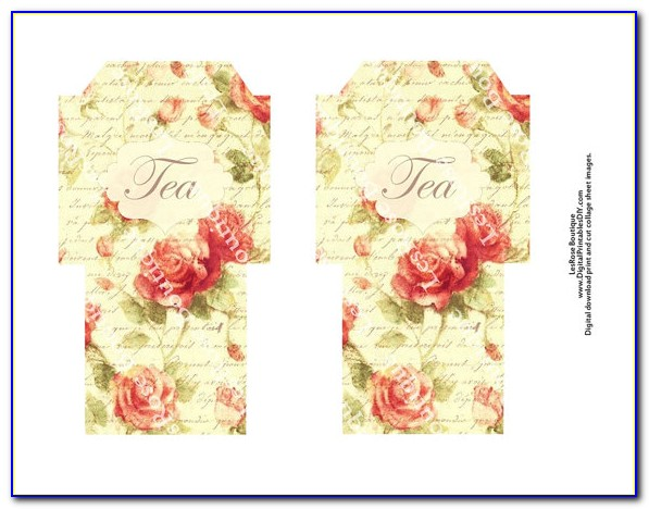 Tea Bag Envelope Template