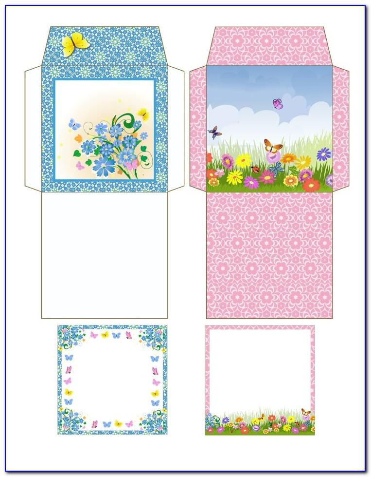 Tea Bag Envelopes Templates