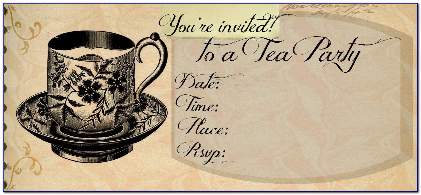 Tea Party Invitation Template Pdf