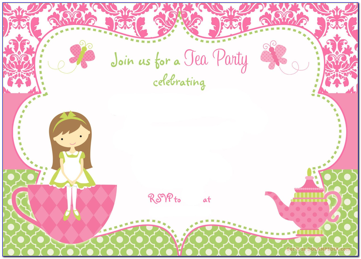 Tea Party Invitations Template Free