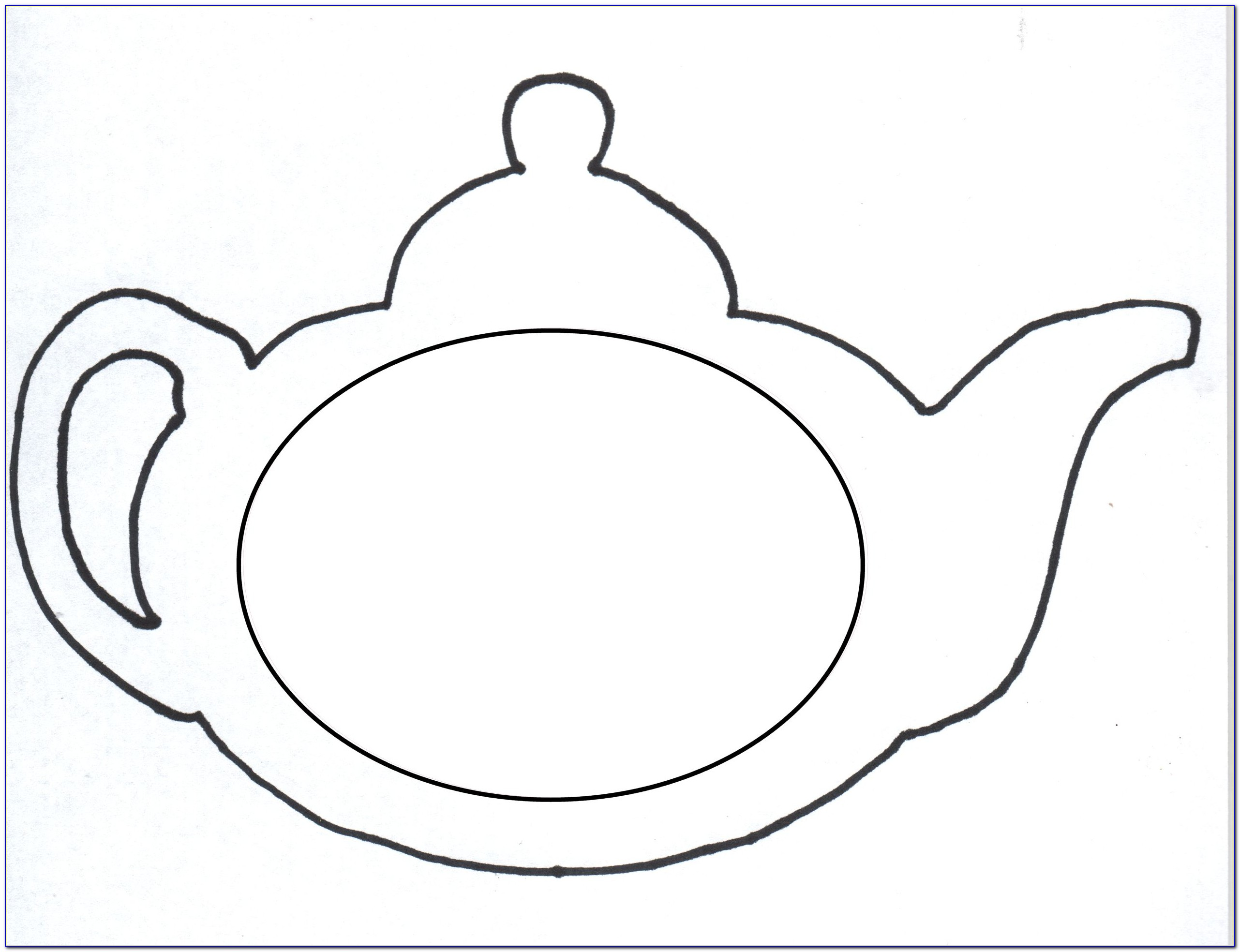 Teapot Card Template Free