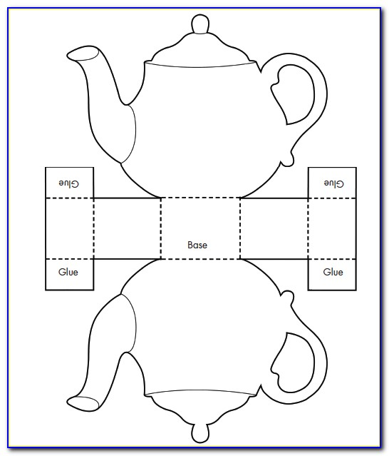 Teapot Card Template Printable