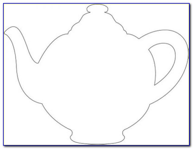 Teapot Shaped Card Template