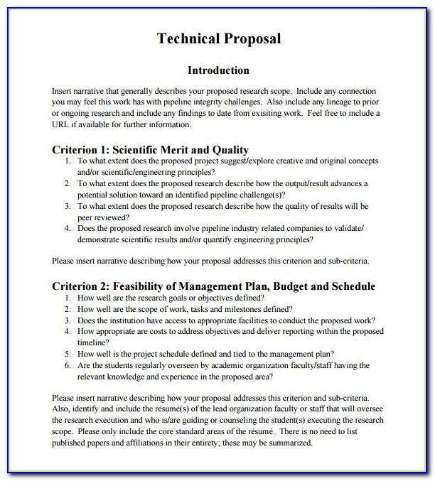 Technical Proposal Writing Sample Pdf