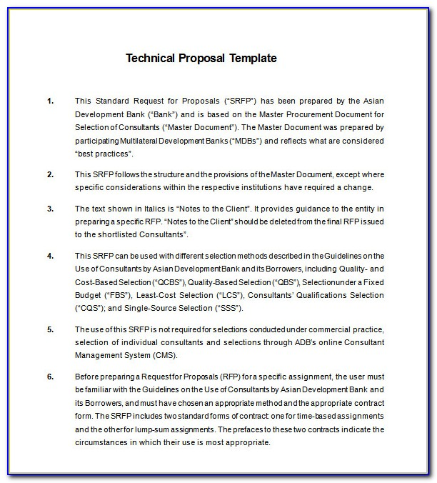 Technical Writing Proposals