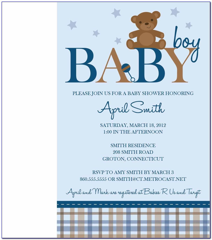 Teddy Bear Picnic Birthday Invitation Templates