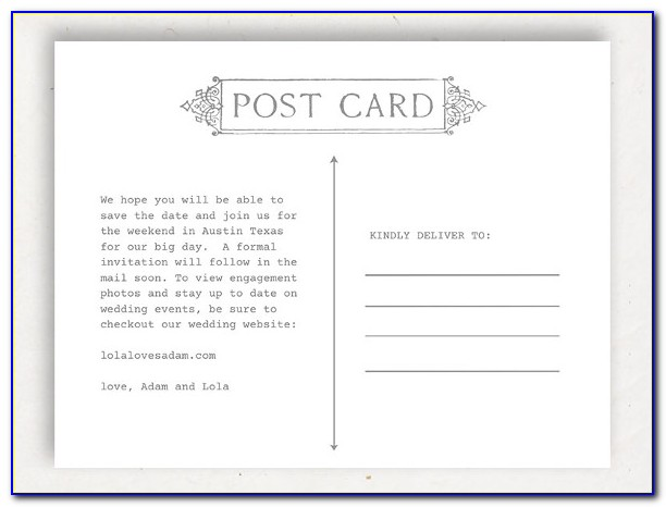 Template For 4x6 Postcards