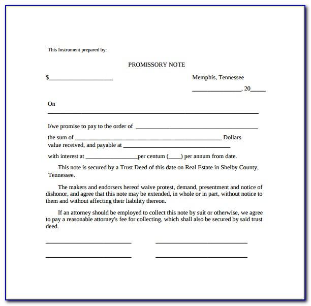 Template Promissory Note Ontario
