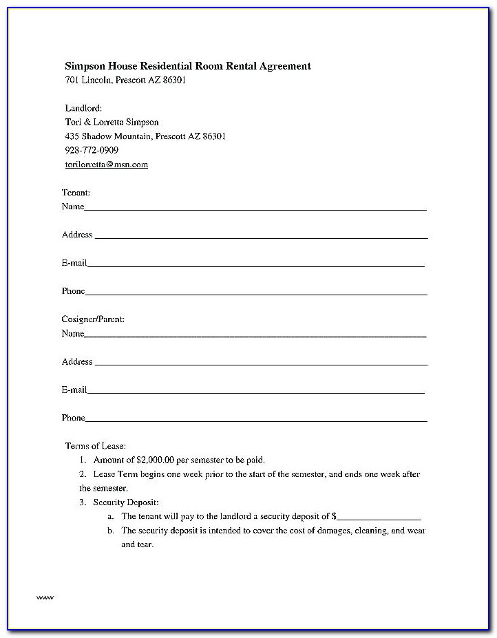 Tenancy At Will Commercial Property Template