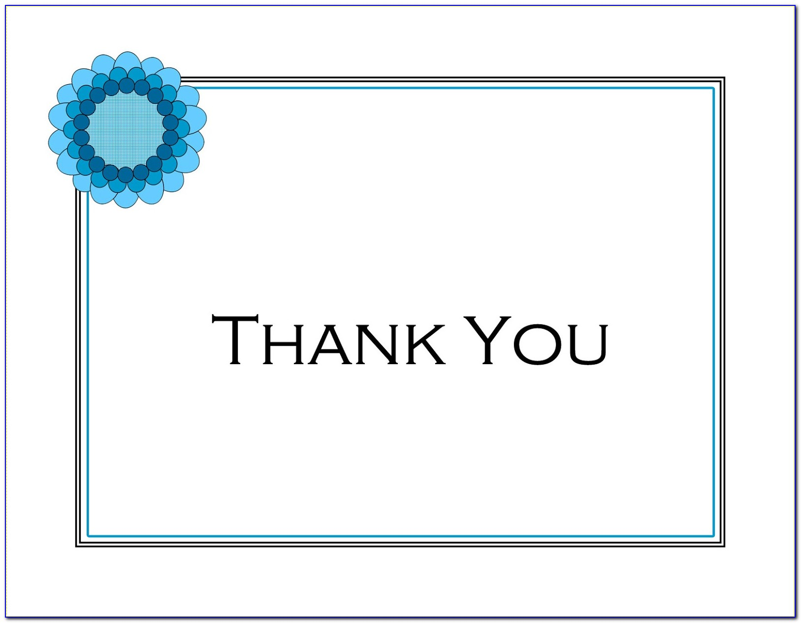 Thank You Letter Stationery Printable