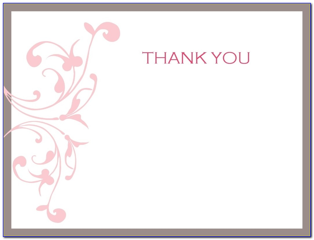 Thank You Note Cards Template | Best Quality & Professional Templates For Free Thank You Card Templates For Word