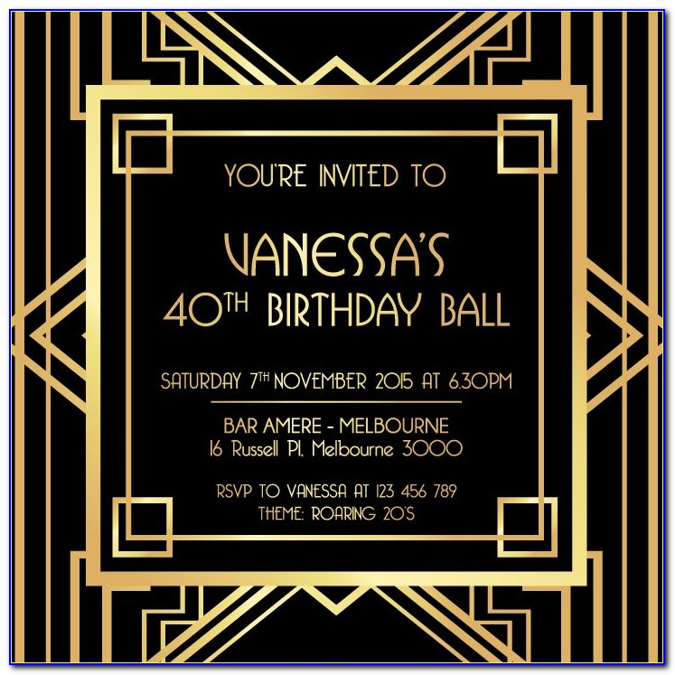 The Great Gatsby Invitation Template