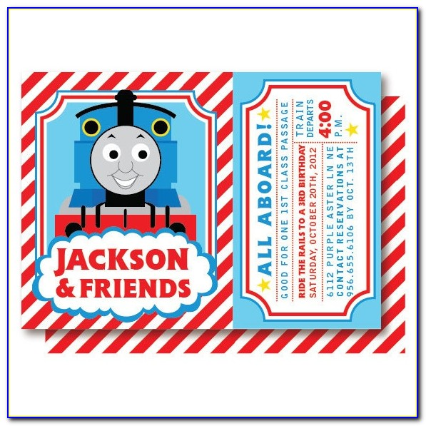 Thomas The Train Birthday Invitations Ticket Template